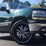 Rimtyme Custom Wheels Tires Stone Mountain Ga On Twitter 2001 Chevy Tahoe C1500 Sitting On 24 Inch Sevizia 427 Black With Machined Face Wheels And 295 35 24 Lexani Tires 404 508 4440 Https T Co Gvxkbotftq