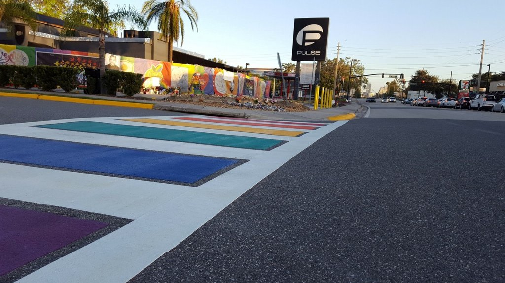 Rainbow crosswalk to honor Pulse shooting victims