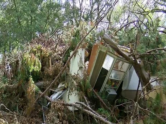 Woman living in tent for weeks waiting for FEMA help after home destroyed by Irma