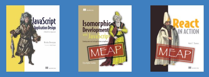 50% off #isomorphic #JavaScript and #React books at @ManningBooks today. #reactjs