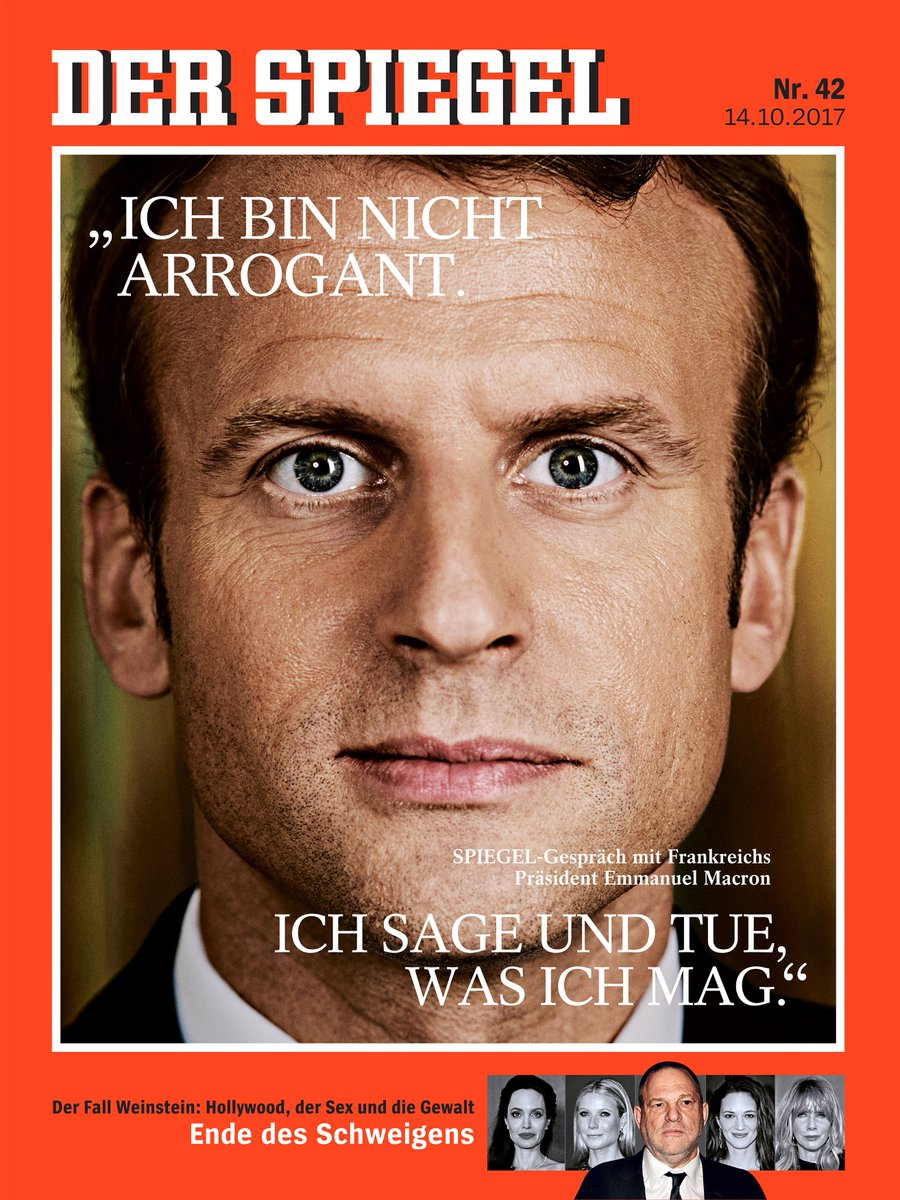 """Résultat de recherche d'images pour """"interview de macron à der spiegel"""""""