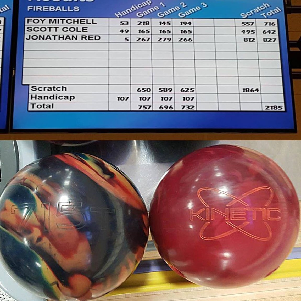 test Twitter Media - Jonathan Redfield debated for a week then chose the Kinetic Ruby and fired 812 out of the box! Smart choice Jonathan! #TrackBowling https://t.co/odtlaPCyz9
