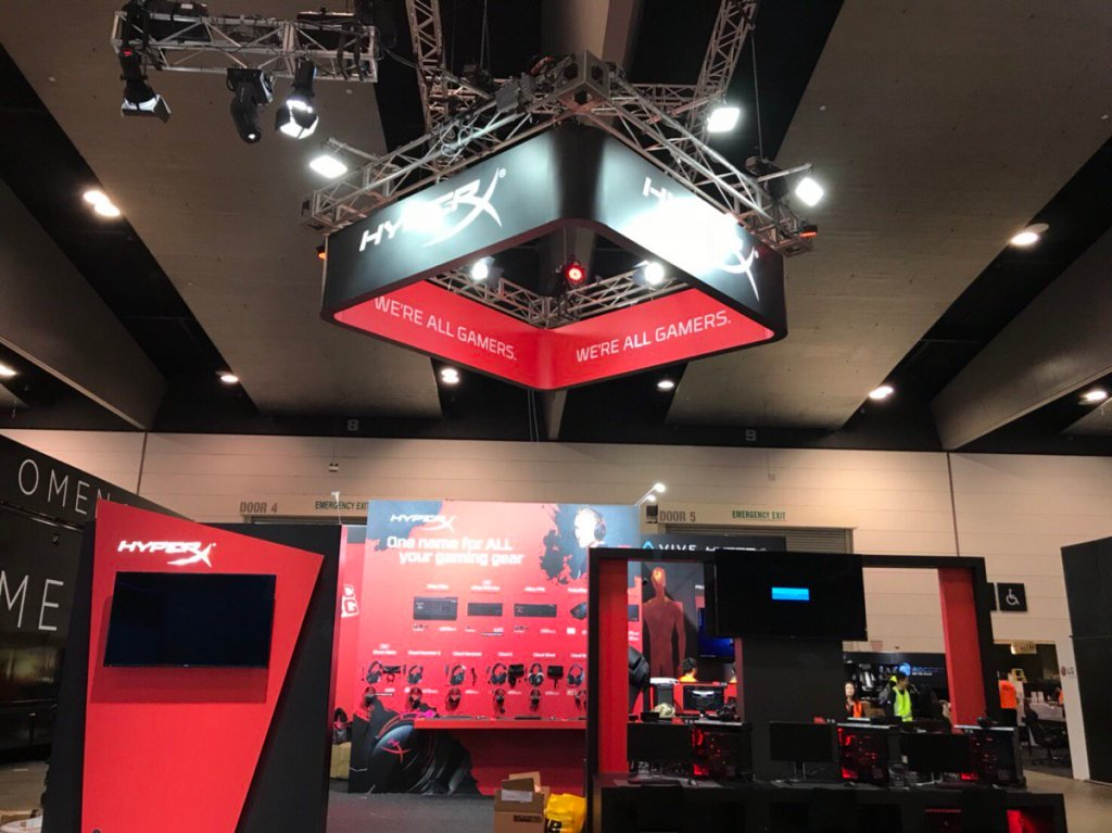 Image result for hyperx headsets PAX Aus