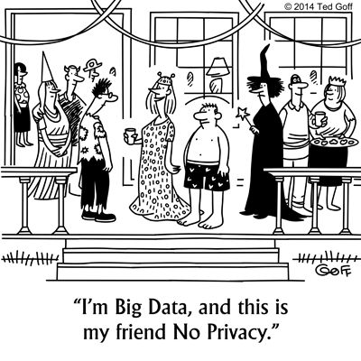 #Cartoon: #Halloween Costume for #BigData #scary #Privacy
