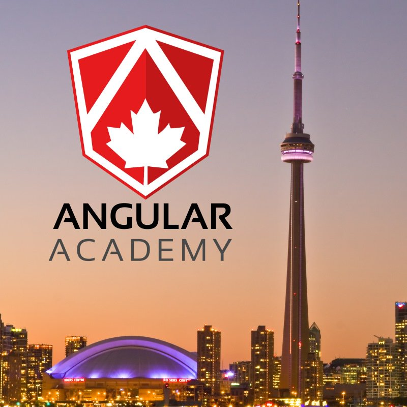 Only 1 ticket left for the Angular Academy Workshop in #Toronto!!    #angular #typescript