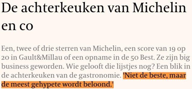 test Twitter Media - Deze redactie vroeg zich af of je culinaire ranglijsten als Michelin en World's 50 Best Restaurants nog moet geloven  📝 @PietDepuydt 📰 @tijd  👉  https://t.co/7RBosmE7gR https://t.co/PrZdOsqAY3