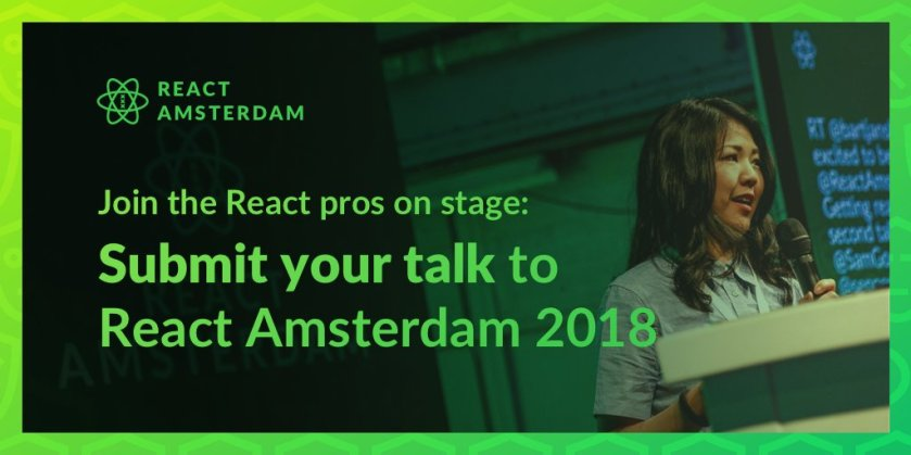 Our CFP is currently open, so don't forget to submit your awesome #ReactJS talk proposal!