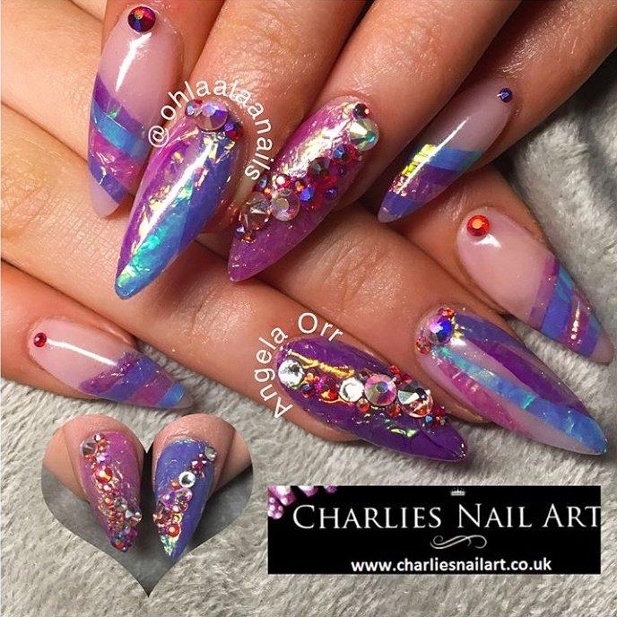 Beautiful Naildesign Featuring Nailart Angel Paper Only 49p From Charliesnailart Co Uk Worldwide Shipping Nails Nailedit Beauty Fashion