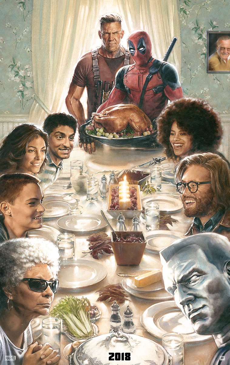 First Deadpool 2 Poster Assembles The Cast For Thanksgiving