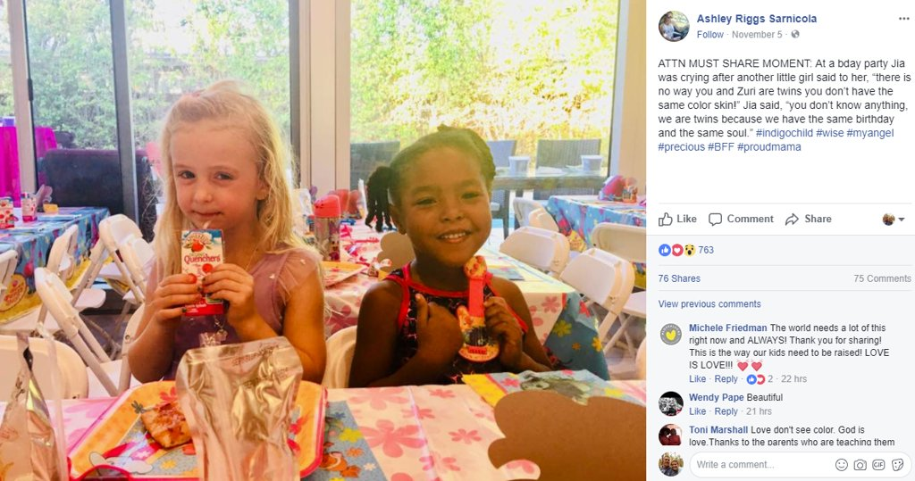 Soul sisters: Four-year-old goes to bat for her bestie