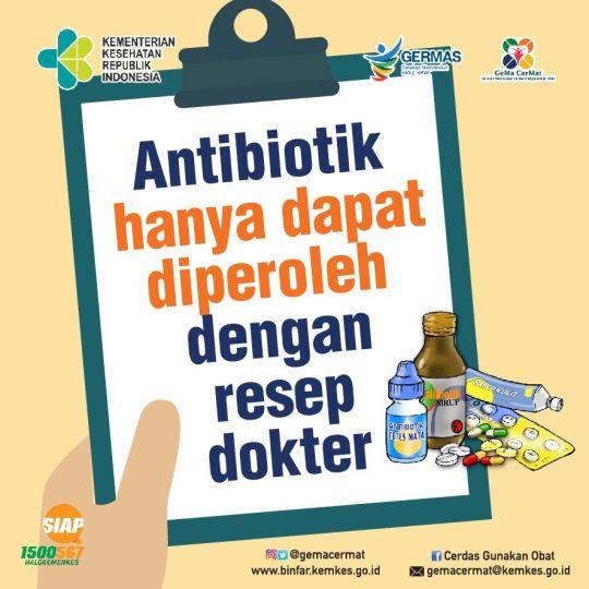 antibiotik hanya dengan resep dokter