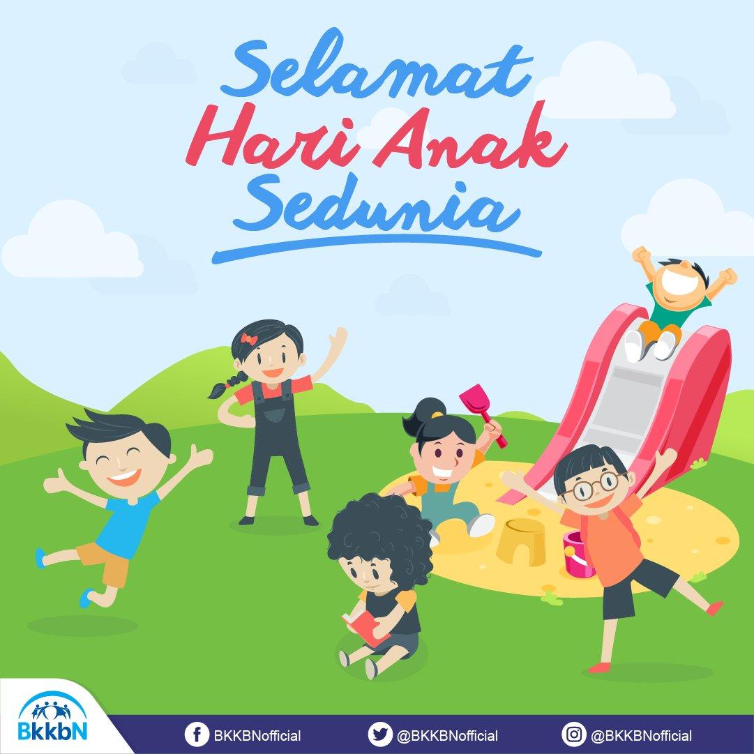 """BKKBN på Twitter: """"Selamat Hari Anak Sedunia, #SobatBKKBN ..."""