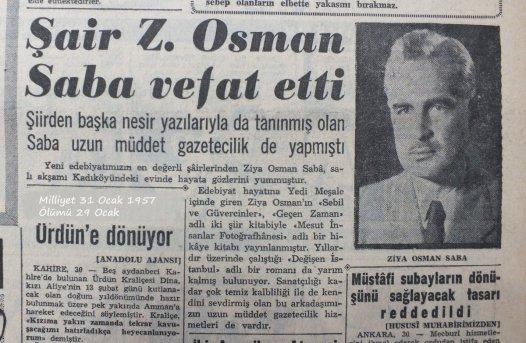 """Tekin Deniz on Twitter: """"Yaşar Nabi'nin,yakın dostu Ziya Osman Saba için  yazdığı satırlardan...… """""""