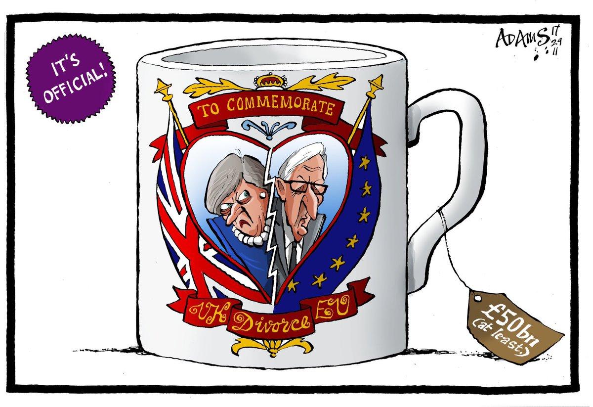 Political Cartoon On Twitter Christian Adams On The Uk Eu Agreement Over The Brexit Bill