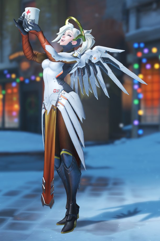 Mercy Looks So Happy In Her Toast Victory Pose Overwatch