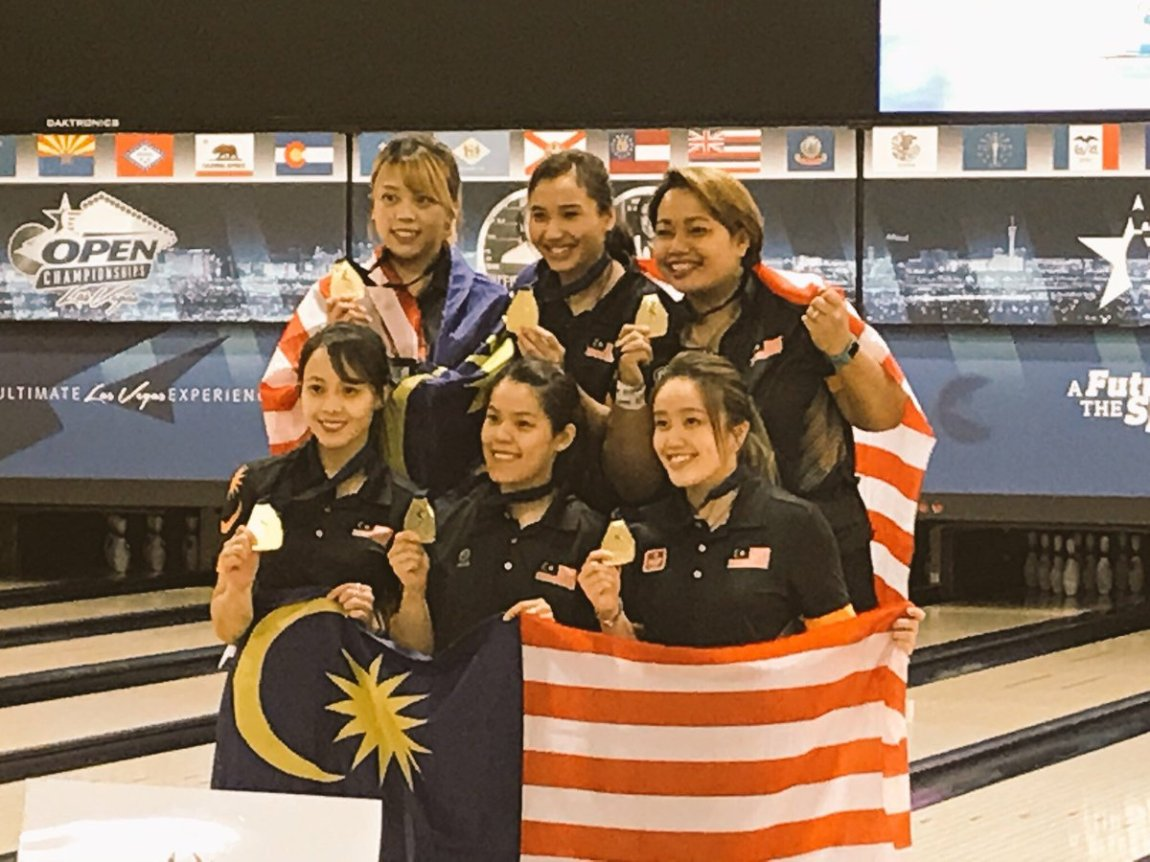test Twitter Media - Ladies Team Gold Medal goes to Malaysia!  #SquadRG #OwnIt https://t.co/HvFEATkuxq