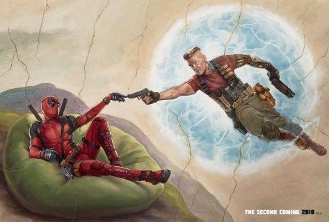 Deadpool & Cable op nieuwe Deadpool 2 wallpaper