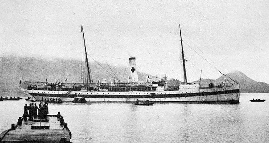 test ツイッターメディア - 日本赤十字社 病院船 弘済丸  1899年イギリスのロブニッツ造船所で建造された。 日本初の病院船博愛丸の姉妹船であり、日露戦争や第一次世界大戦では患者輸送任務に従事した。 1926年に昭和工船漁業に売却され蟹工船美福丸となった。https://t.co/XlCfeVHQdZ