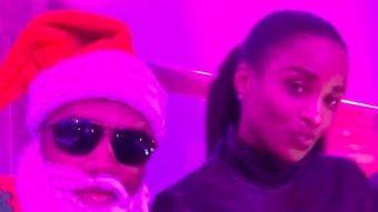 Santa Russ Wilson And Ciara Turn Up At The Seahawks Christmas Party
