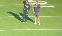 Bill Belichick Casually Wore Cut-Off Sleeves And Shorts For Warmups In 10-Degree Weather