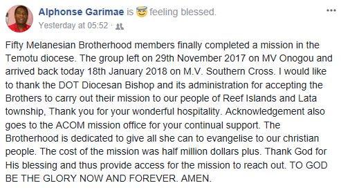 MBH Mission news.