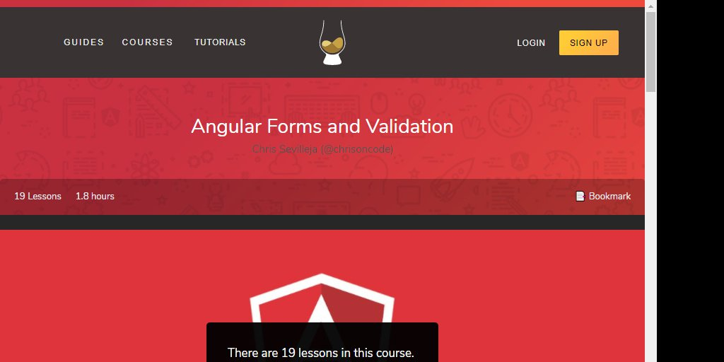 Angular Forms and Validation |