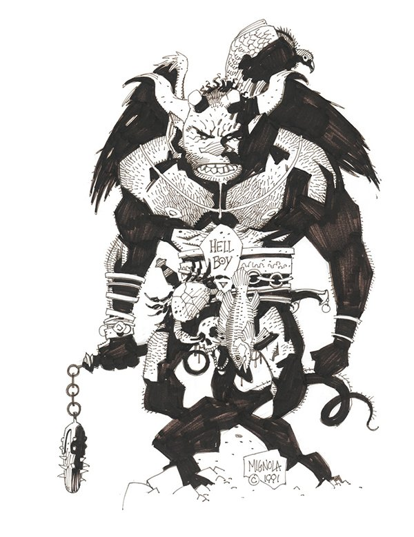 Hellboy creator Mike Mignola shares first-ever drawing of the character