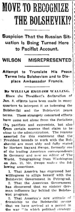 "Patrick Chovanec on Twitter: ""Jan 14, 1918 - New York ..."