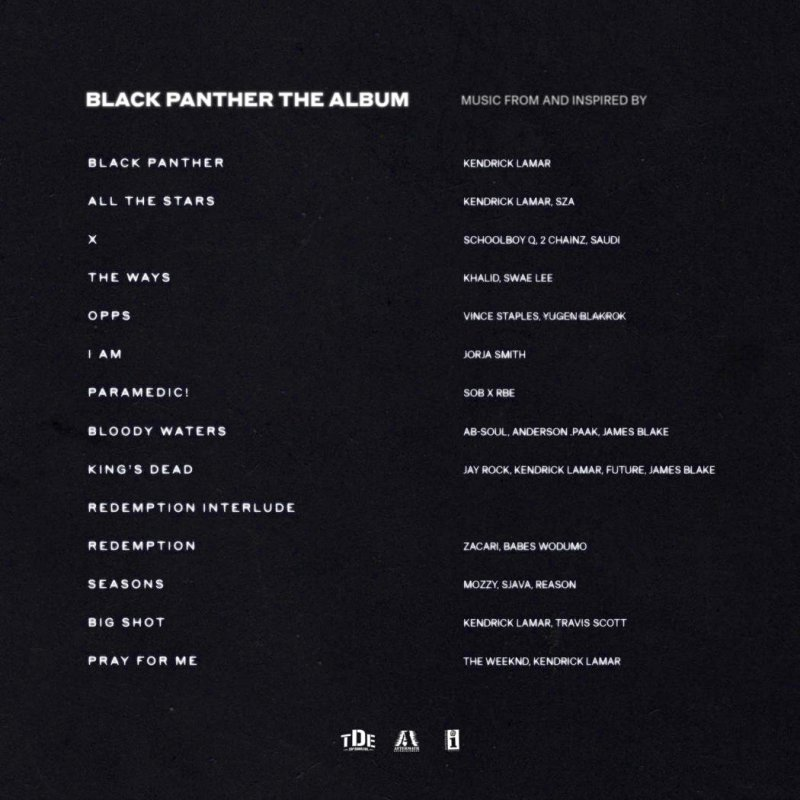 Black Panther The Album Tracklist