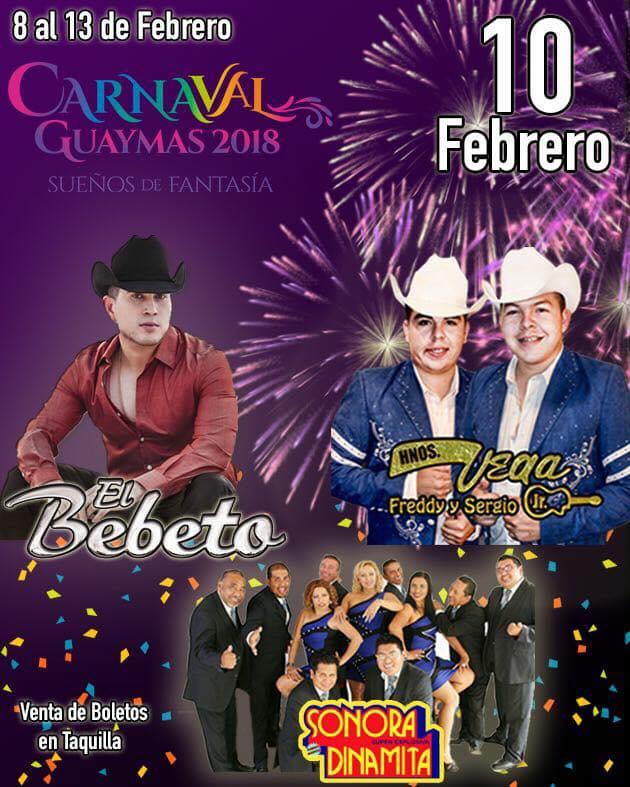 carnaval guaymas 2018 grupos