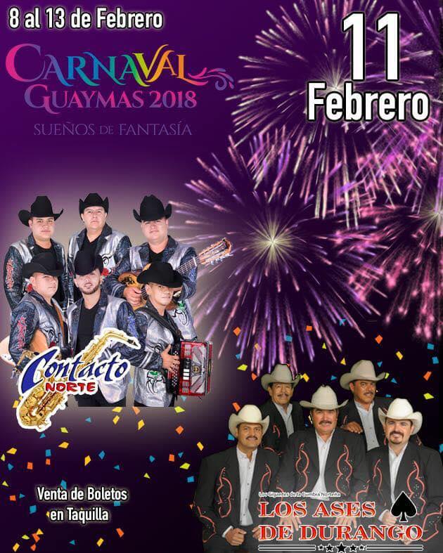 carnaval guaymas 2018 fechas