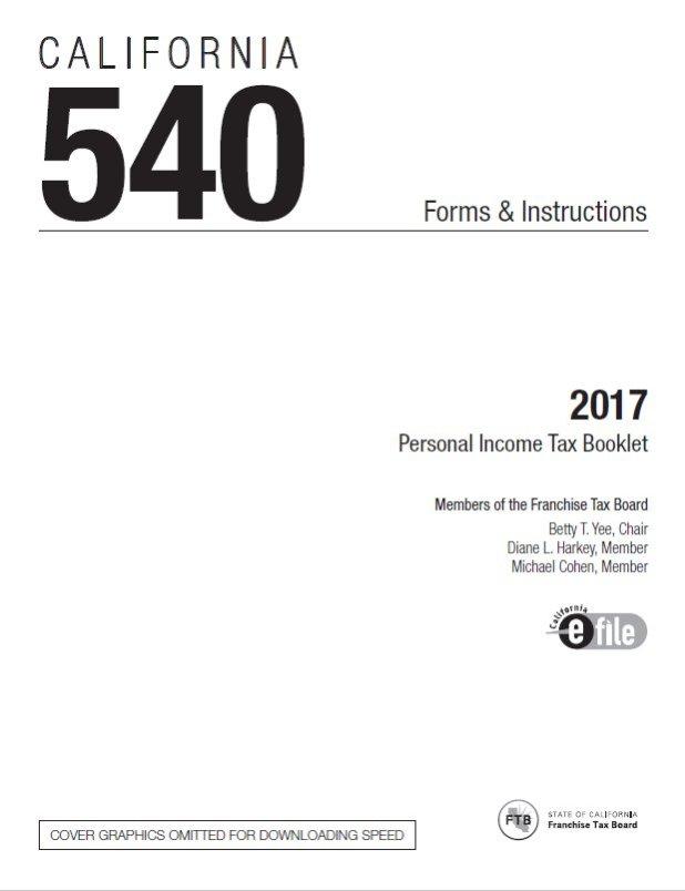 California Tax Tables 2017