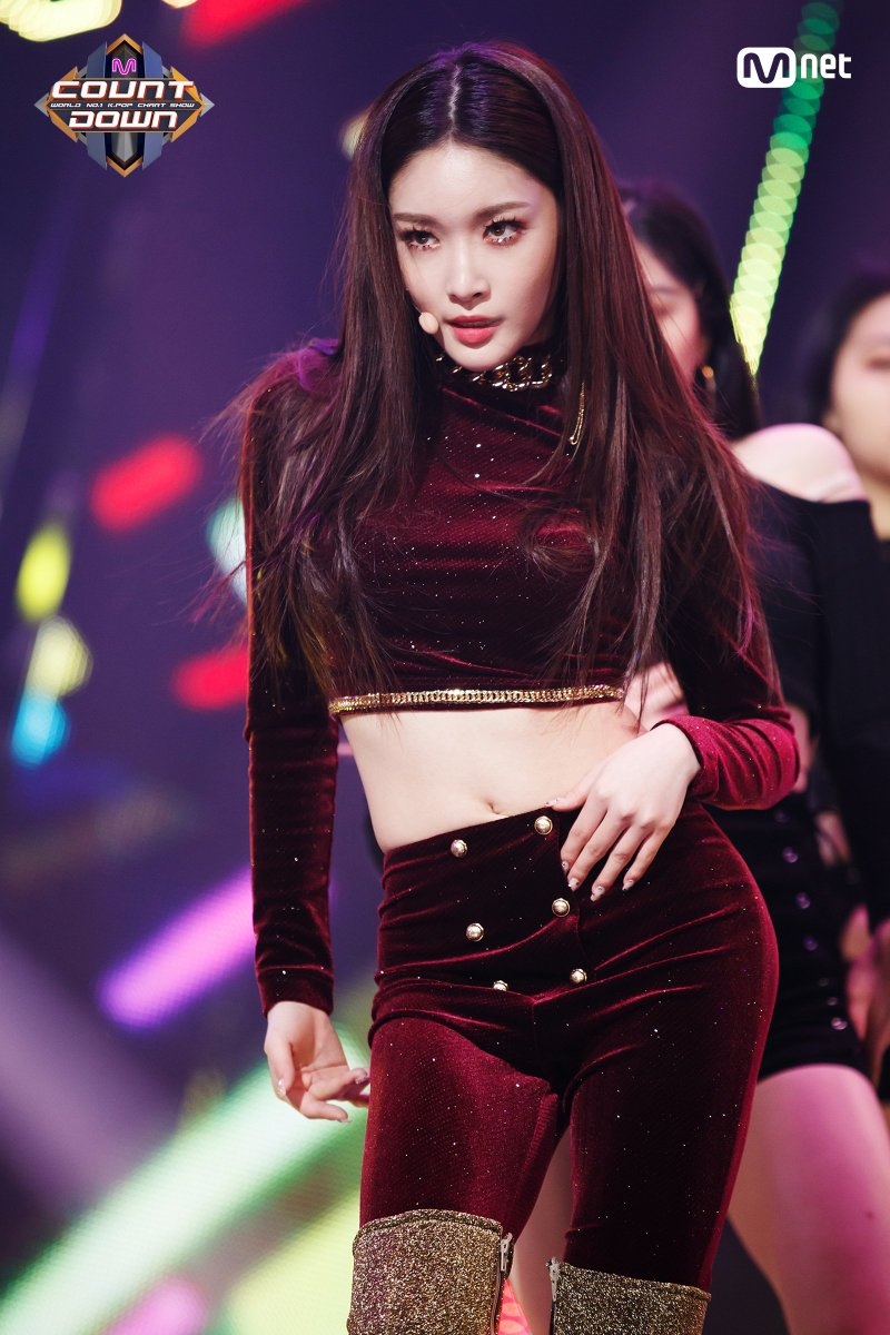 Image result for chungha mcountdown site:twitter.com
