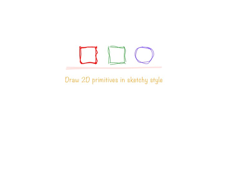 ✏️ Draw 2D primitives in sketchy style with React #reactjs