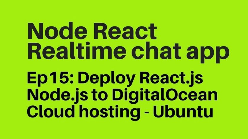 Deploy React.js (create-react-app) Node.js to DigitalOcean Cloud Hosting  ☞   #Nodejs