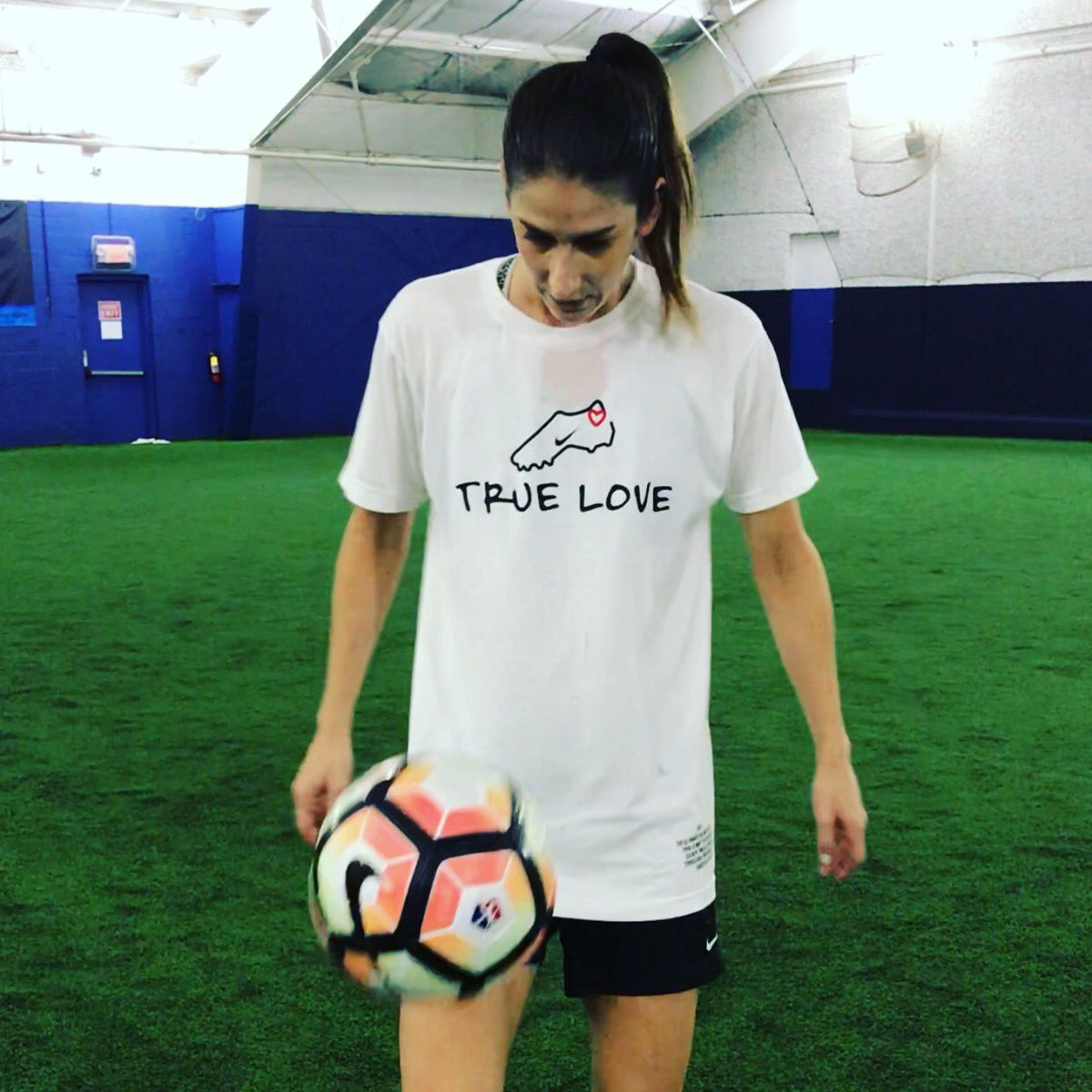 "❤️ this new @SoccerGrlProbs shirt and it has one of my favorite quotes of all time on the side: ""Success is no accident. It is hard work, perseverance, learning, studying, sacrifice and most of all, love of what you are doing or learning to do."" -Pele"