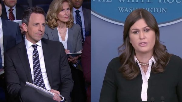 "Late Night with Seth Meyers on Twitter: ""Sarah Huckabee ..."