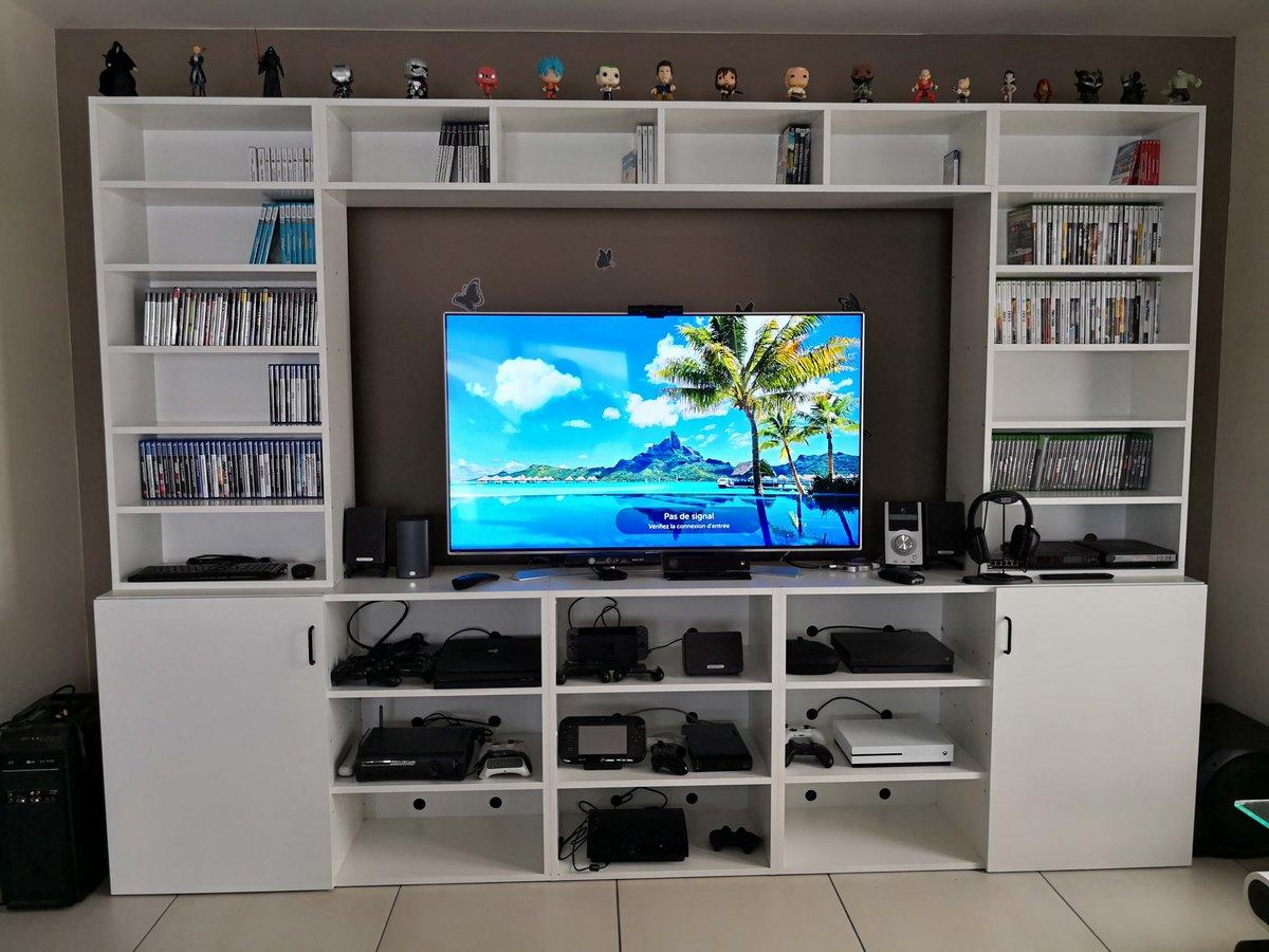 meubletv console jeuxvideo tv55