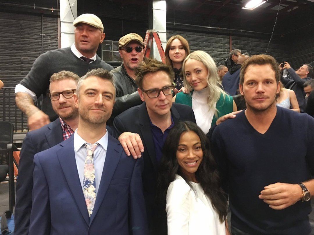 Guardians BTS at the Marvel's 10 Year Anniversary Photo shoot