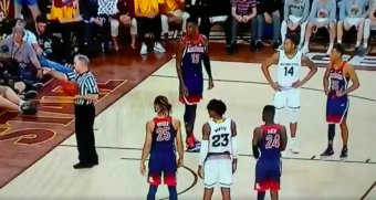 Arizona Basketball Cheerleader Got Tossed For Heckling Arizona State Players Too Much