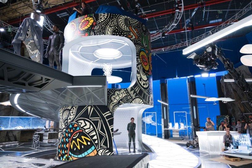 Shuri's Lab via Black Panther production designer Hannah Beachler (@chinchilla1970)