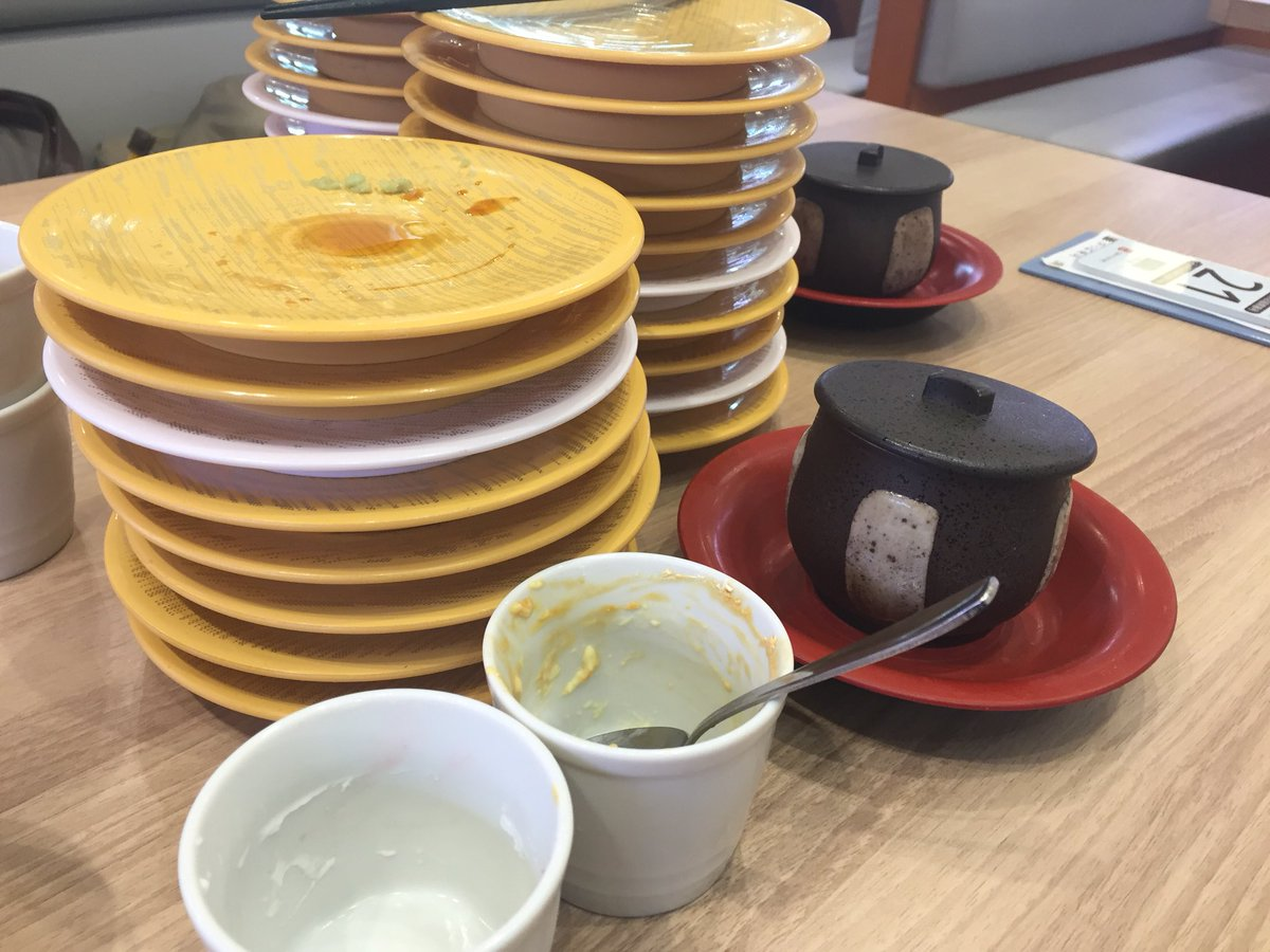 test ツイッターメディア - 母親とかっぱ寿司の食べ放題に行って来ました.寿司18皿+茶碗蒸し+杏仁豆腐+ホイッププリンを完食し少し重いです.でも美味しかった. #ドロシーの食事日記 https://t.co/chuv50vrMq
