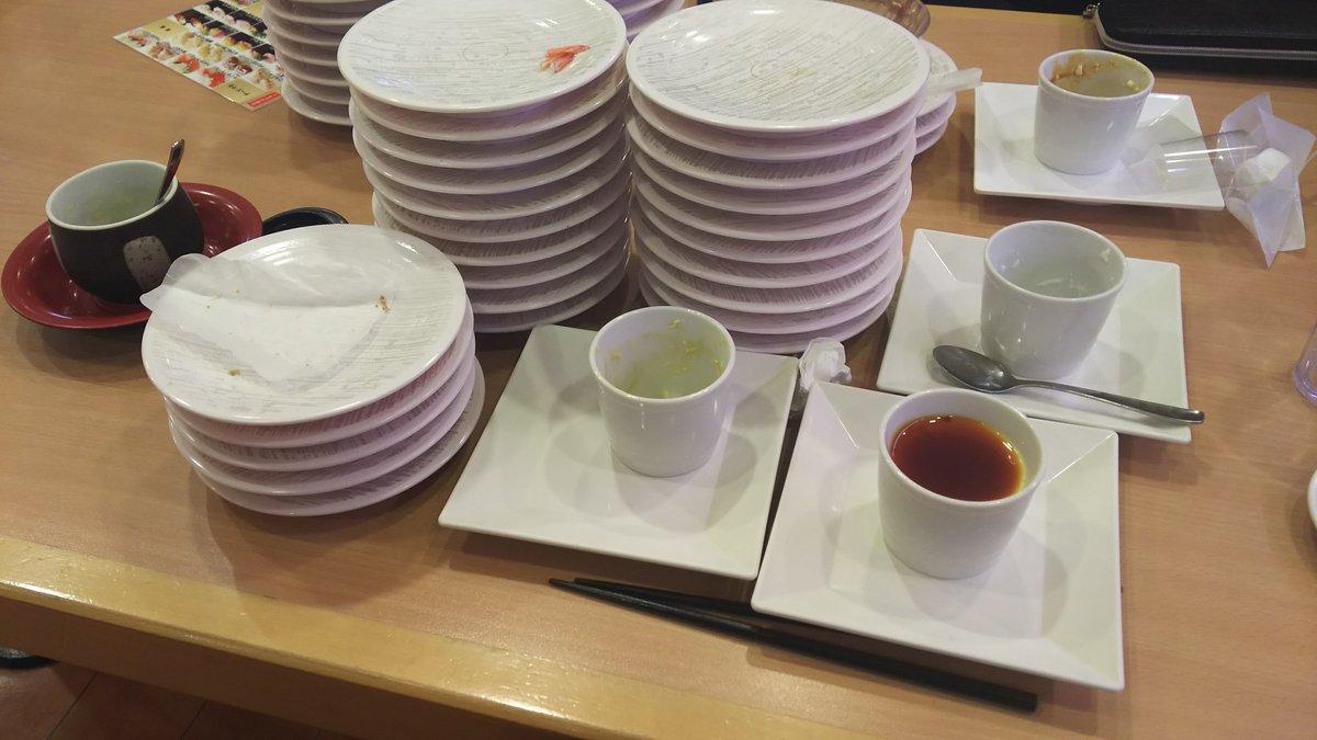 test ツイッターメディア - かっぱ寿司中学ぶりに行った 寿司24皿茶碗蒸し1個デザート4皿 食べ放題じゃなきゃ絶対これだけ食べないなぁ(*・∀・)*-∀-) https://t.co/3qbiV0yZAi