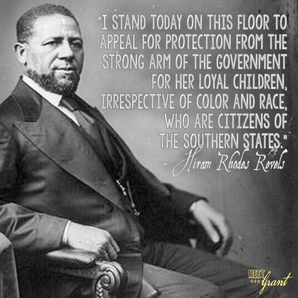 Image result for hiram rhodes revels quotes