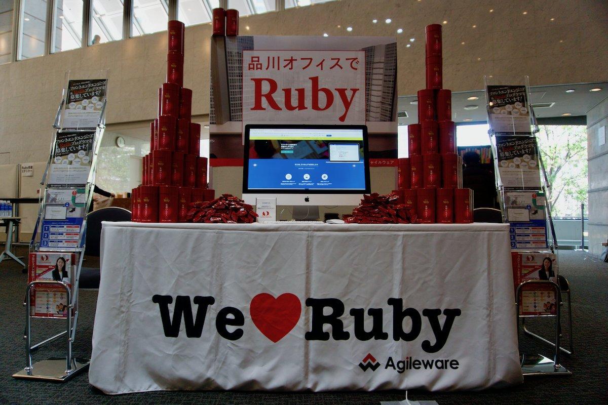 test ツイッターメディア - #ruby25 のアジャイルウェアブースでRubyのポッキー差し上げてます。ぜひ遊びに来てくださいねー。 #ruby25th https://t.co/oYO7kLutre