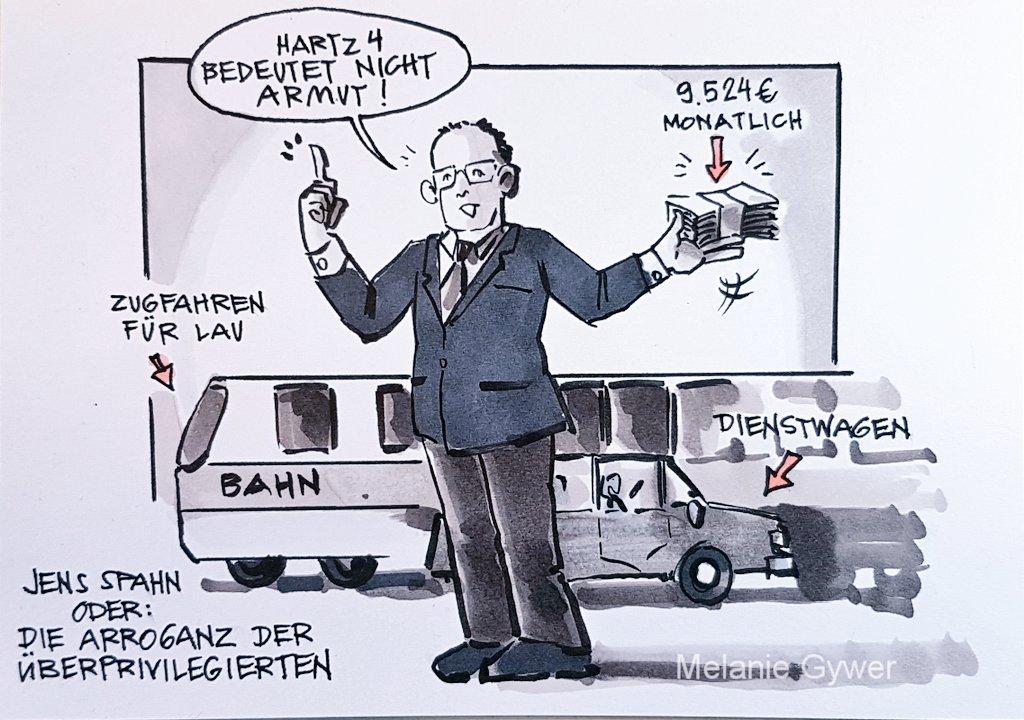 Zeichnung Jens Spahn Sagt Hartz  Bedeutet Nicht Armut In Seiner Hand