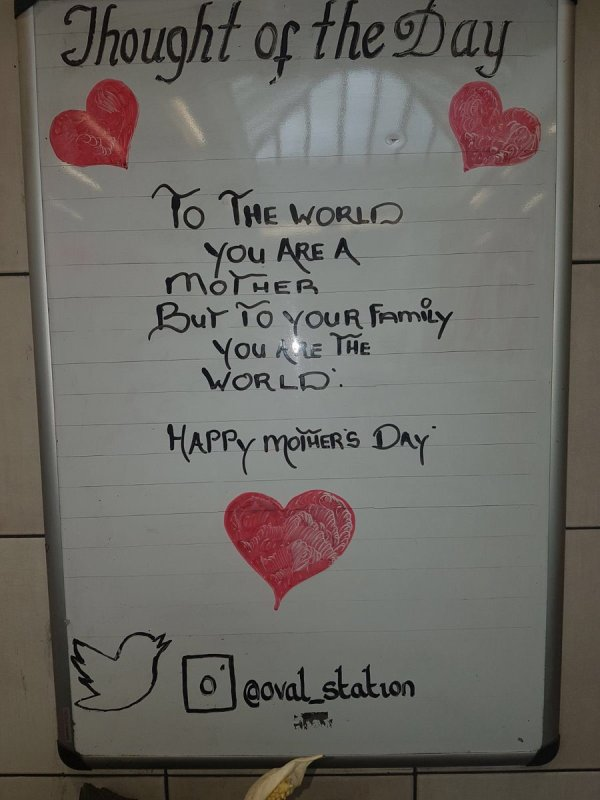 """Oval Tube Station on Twitter: """"Sunday 11th March Mother's ..."""