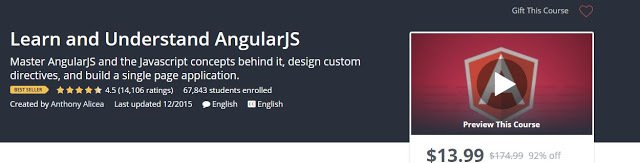 [#Udemy 92% Off]#Learn and Understand #AngularJS