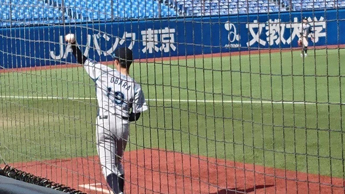 test ツイッターメディア - おはようございます。昨日日本製紙石巻に花巻東高校時代に大谷翔平と同級生でその後慶應大学へ進んだ小原大樹君⚾努力家頑張ってました😉 https://t.co/QnQaBEpdgx