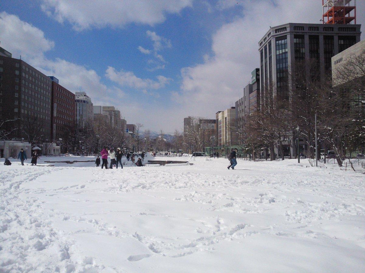 test ツイッターメディア - [札幌]ランチは大通公園方面へ.昨夜のうちに10センチの積雪があり,真っ白な銀世界に.正午の気温は2.4度だったが,日なたでは雪がどんどん融けていて,かき氷の末期状態.足元は取られる,交差点は冠水する,走行車に水をはねられるなど数々の災難を乗り切って,握り寿司に到達できたシアワセよ. https://t.co/1pFIiMxnet